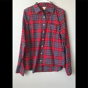 J Crew Plaid Button Up Shirt size M